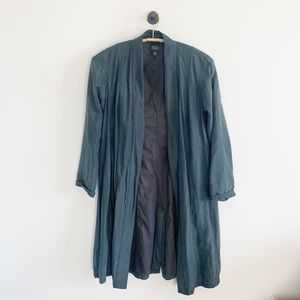 Eileen fisher green duster cardigan jacket xs